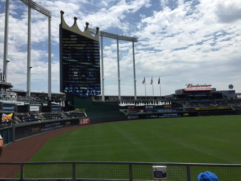 Seating view for Kauffman Stadium Section 109 Row N Seat 1