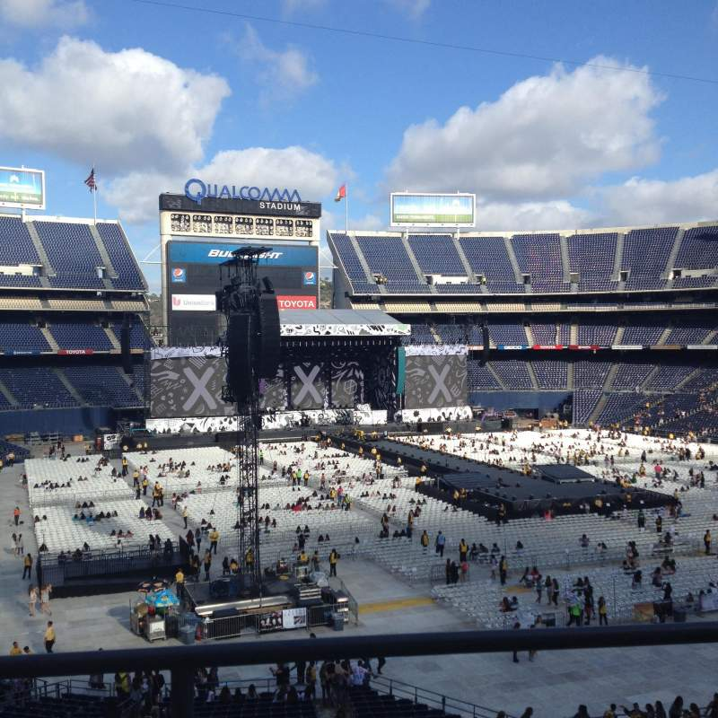 Seating view for Qualcomm Stadium Section LV17 Row 2 Seat 5
