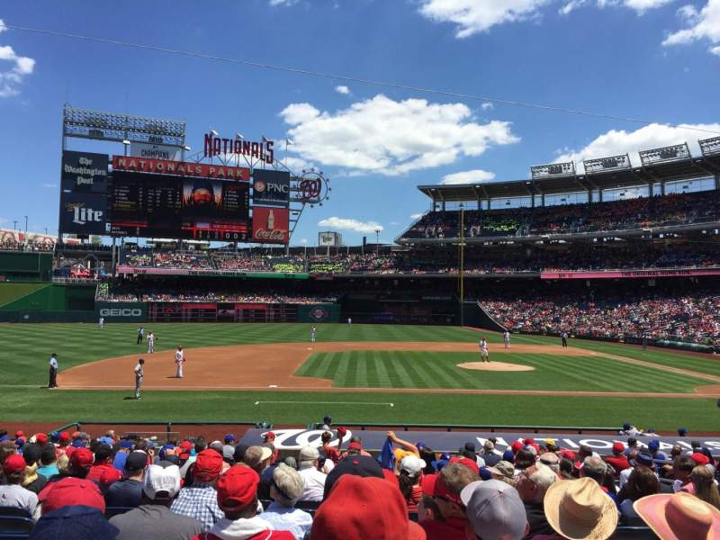 Seating view for Nationals Park Section 116 Row W Seat 9