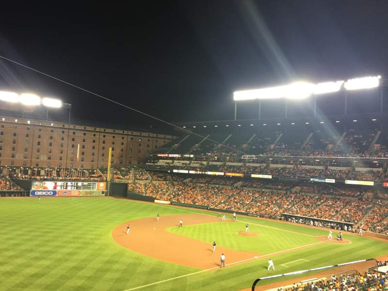 Seating view for Oriole Park at Camden Yards Section 260 Row 2 Seat 3