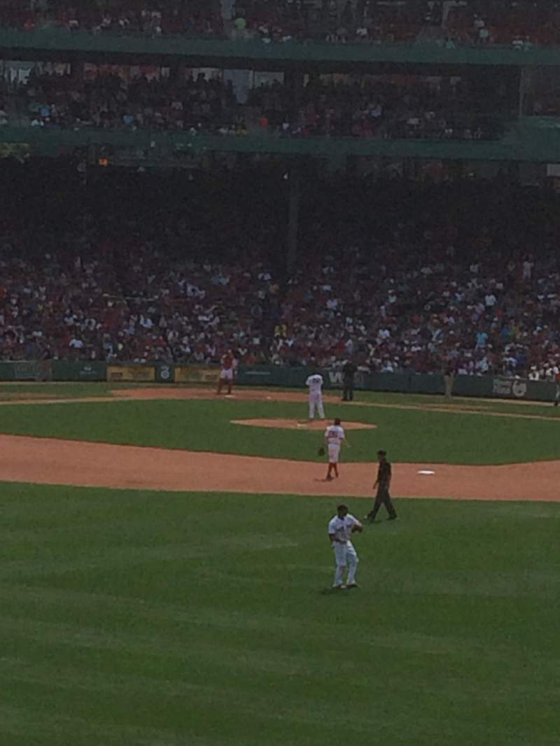 Seating view for Fenway park Section Cf bleachers Row 8 Seat 28