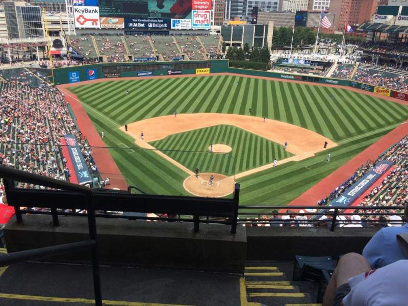 Seating view for Progressive Field Section 553 Row J Seat 20