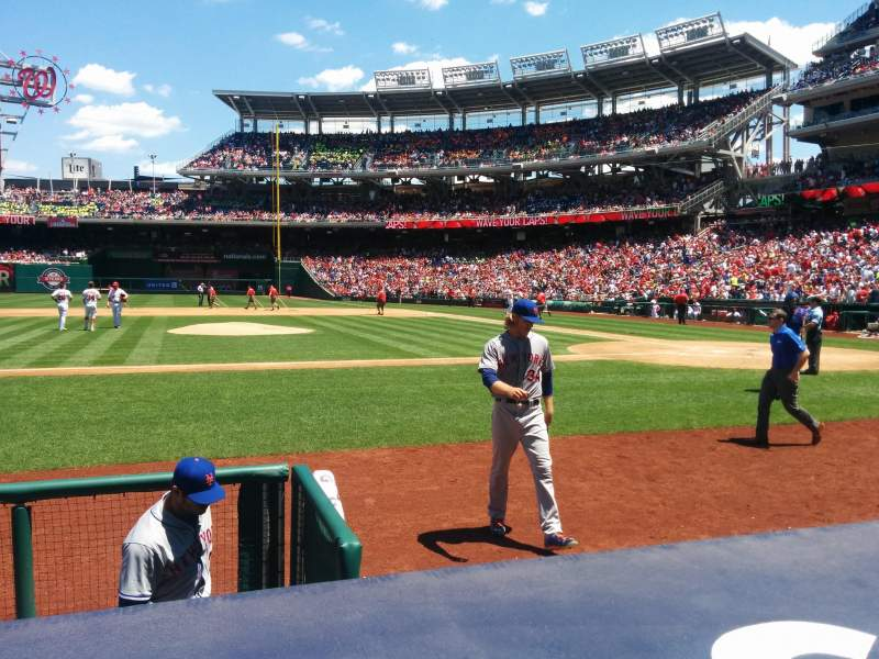 Seating view for Nationals Park Section 117 Row D Seat 15