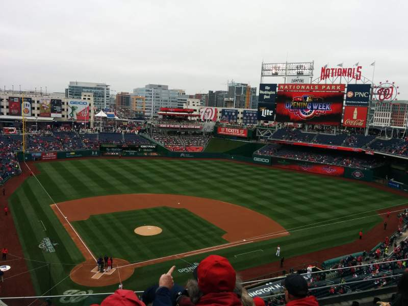 Seating view for Nationals Park Section 316 Row F Seat 14