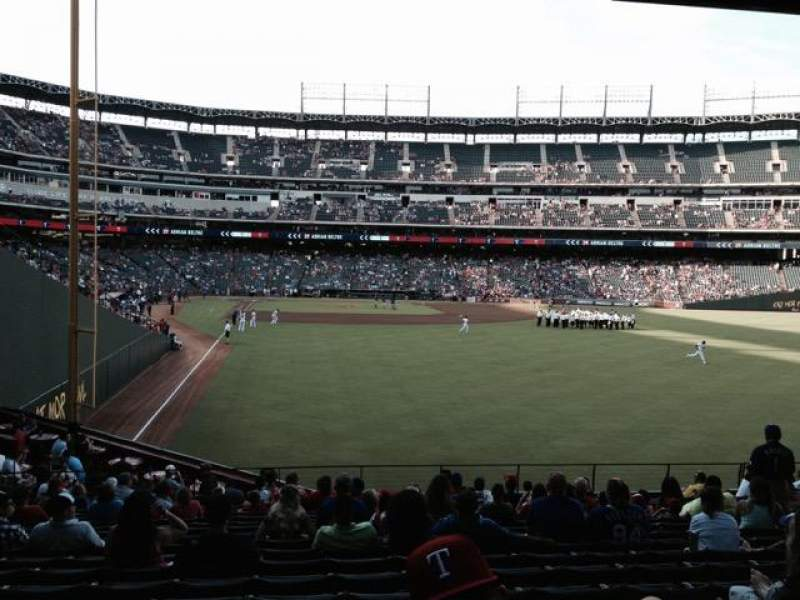 Seating view for Globe Life Park in Arlington Section 44 Row 17 Seat 11