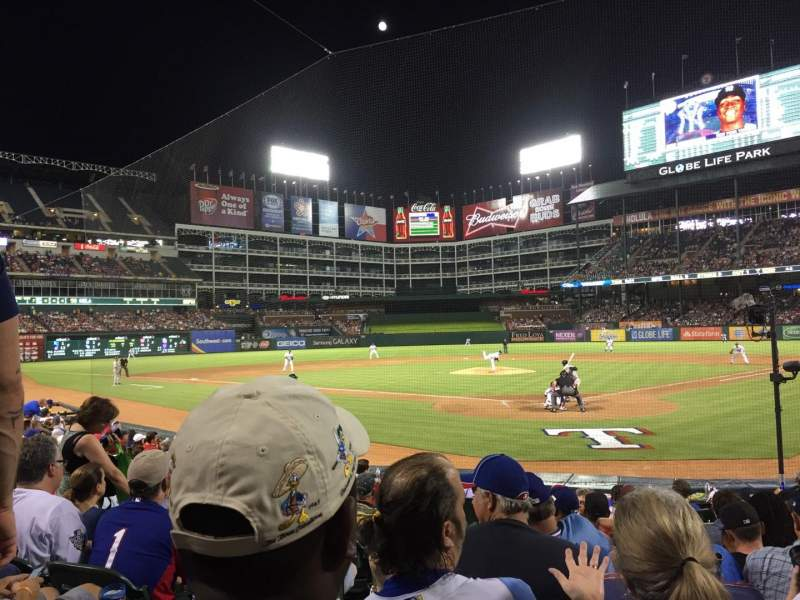 Seating view for Globe Life Park in Arlington Section 25 Row 8 Seat 4
