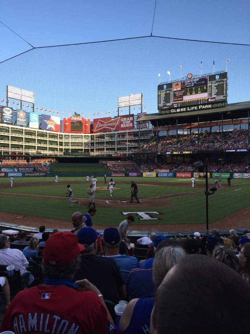 Seating view for Globe Life Park in Arlington Section 25 Row 8 Seat 2