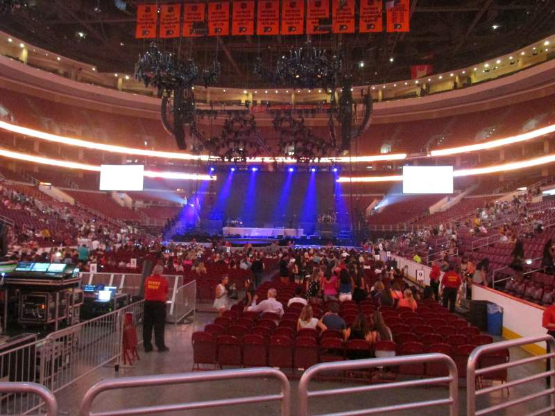 Seating view for Wells Fargo Center Section 108 Row 3 Seat 10