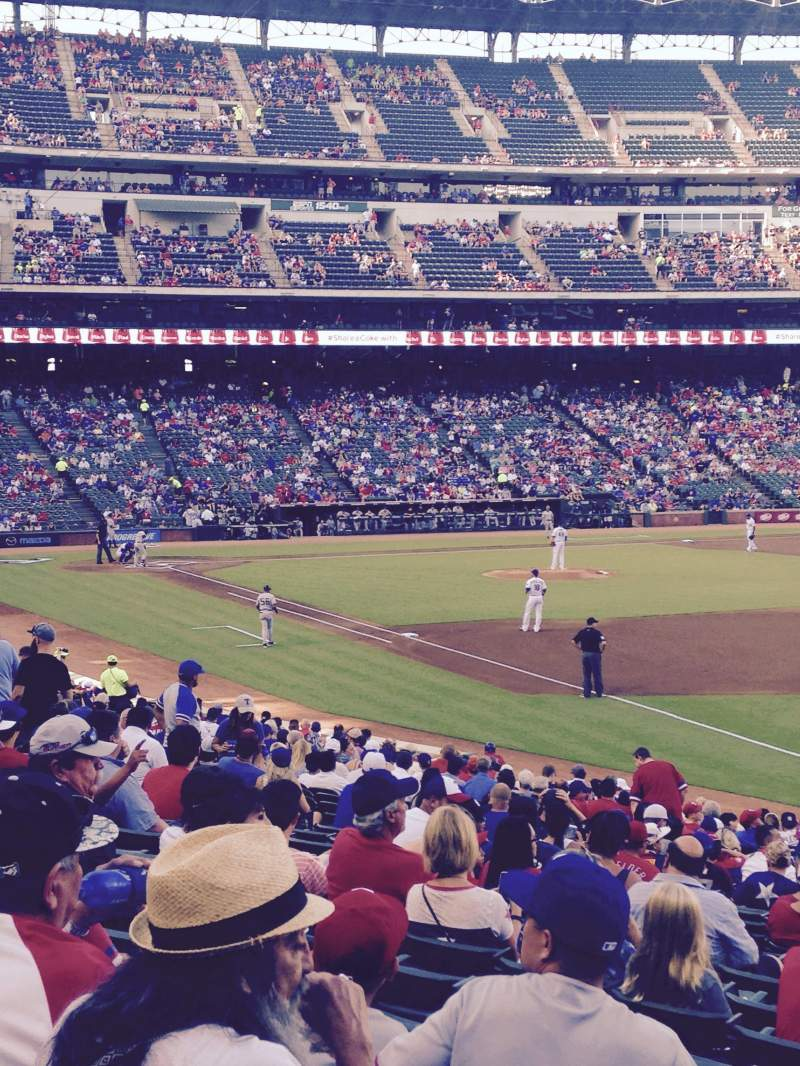 Seating view for Globe Life Park in Arlington Section 39 Row 24 Seat 1