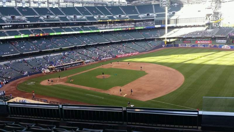Seating view for Miller Park Section 315 Row 5 Seat 9