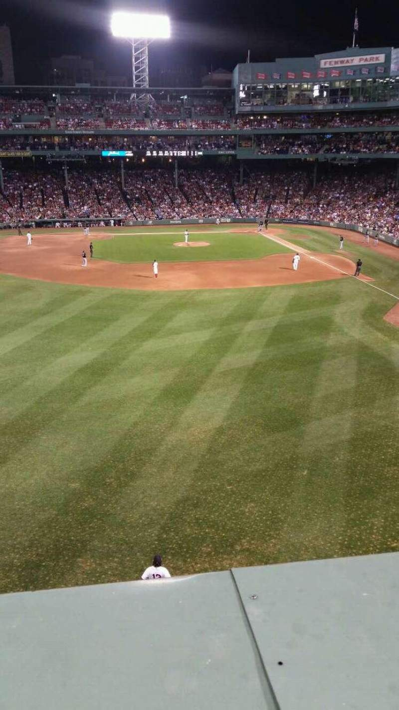 Seating view for Fenway Park Section Green Monster 4 Row 1 Seat 4