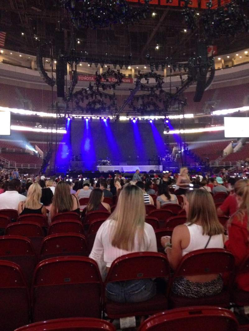 Seating view for Wells Fargo Center Section Floor 7 Row 8