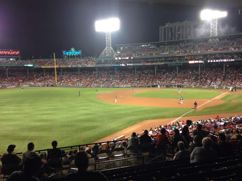 Seating view for Fenway Park Section Grandstand 32 Row 10 Seat 19