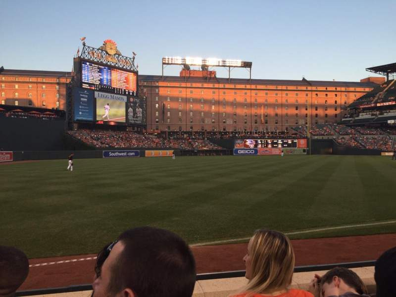 Seating view for Oriole Park at Camden Yards Section 60 Row 3 Seat 7