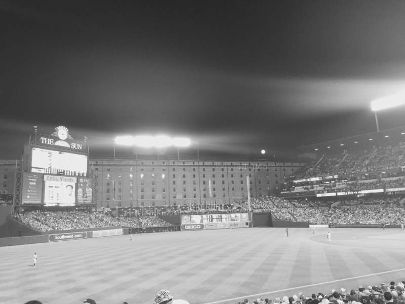 Seating view for Oriole Park at Camden Yards Section 66 Row 20 Seat 3