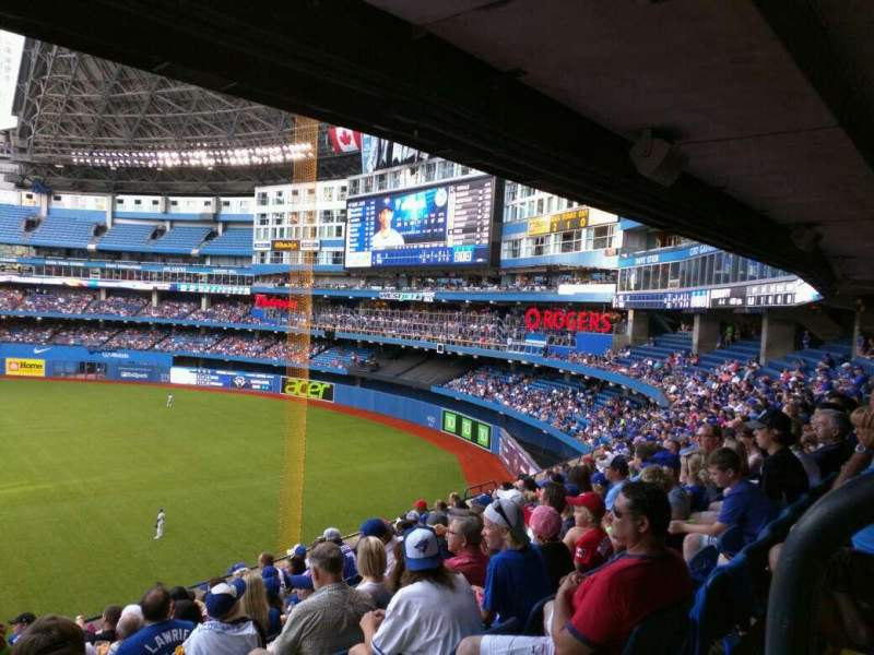 Seating view for Rogers Centre Section 210R Row 11 Seat 1