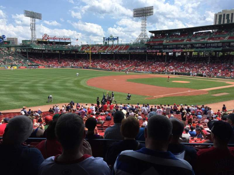 Seating view for Fenway Park Section grandstand 30 Row 3 Seat 17