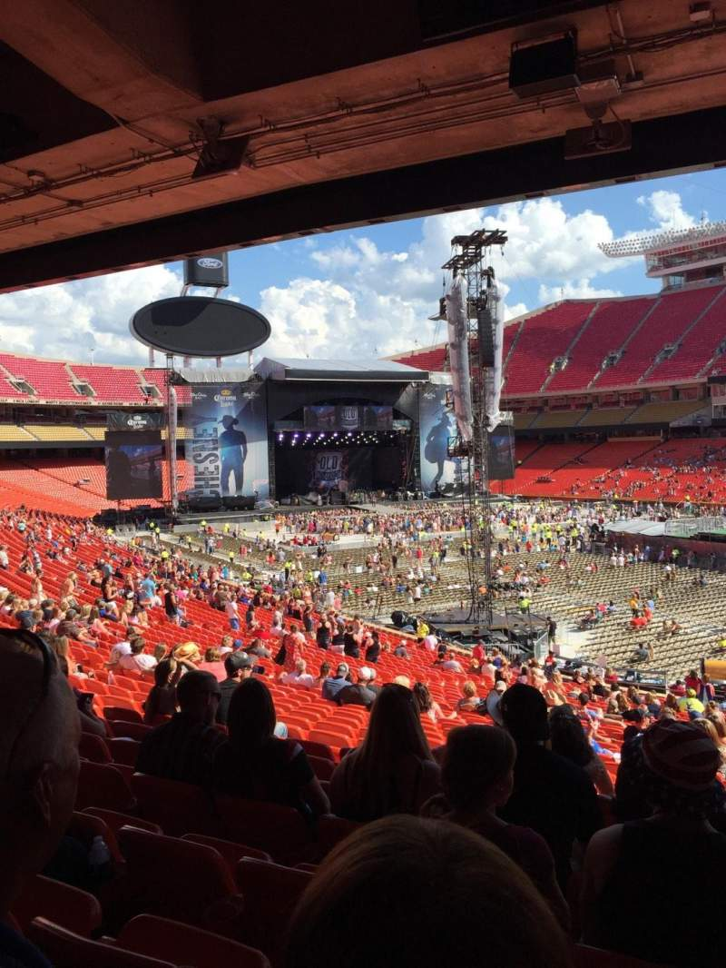 Seating view for Arrowhead Stadium Section 132 Row 36 Seat 9