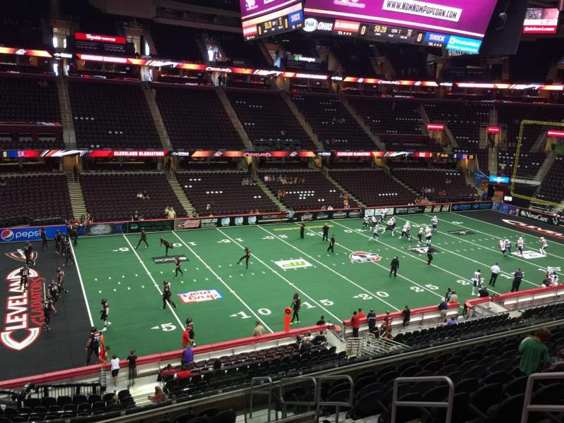 Seating view for Quicken Loans Arena Section 123 Row 26 Seat 18
