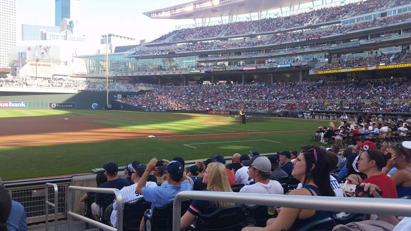 Seating view for Target Field Section 15 Row 8 Seat 1