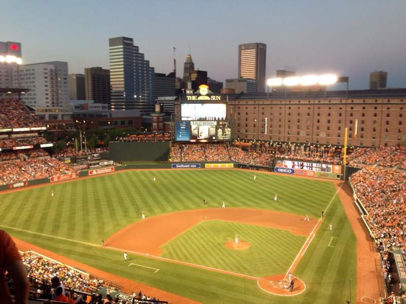 Seating view for Oriole Park at Camden Yards Section 344 Row 19 Seat 8