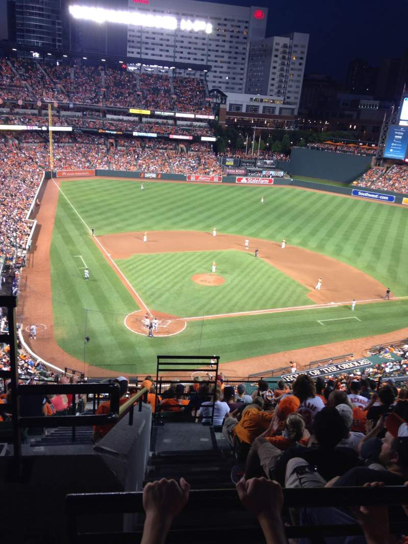 Seating view for Oriole Park at Camden Yards Section 330 Row 14 Seat 15