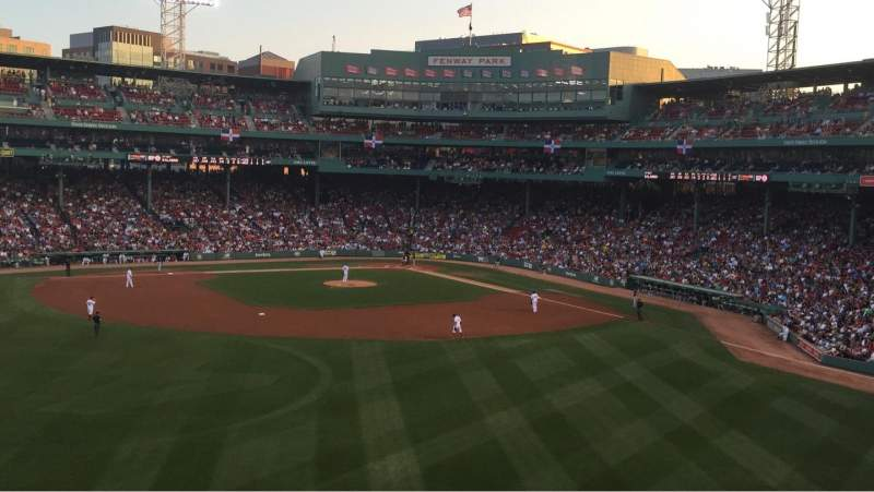 Seating view for Fenway Park Section M Row 8 Seat 6
