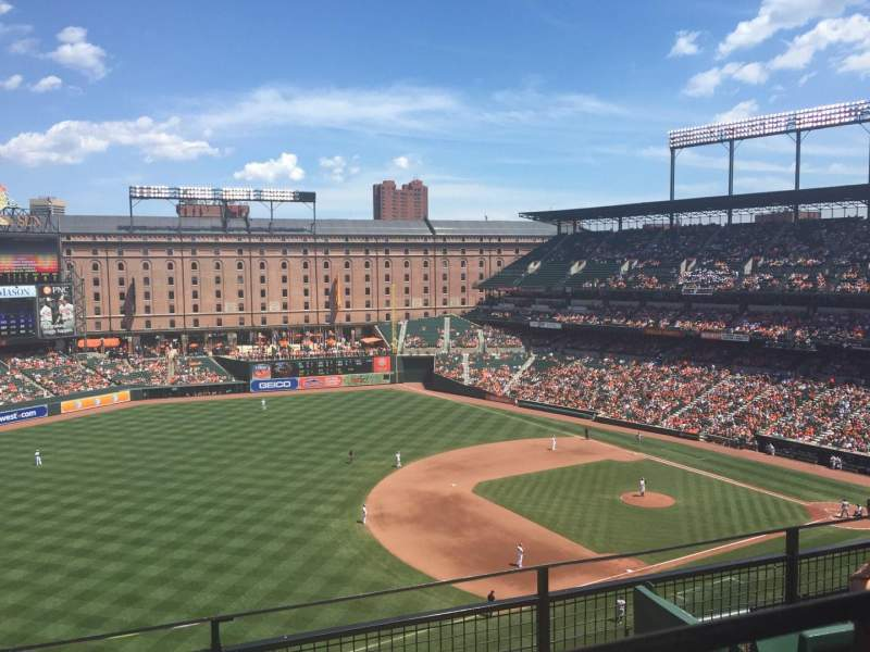 Oriole Park At Camden Yards Section 362 Home Of Baltimore Orioles