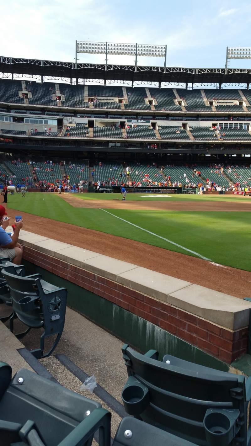 Seating view for Globe Life Park in Arlington Section 39 Row 3 Seat 3