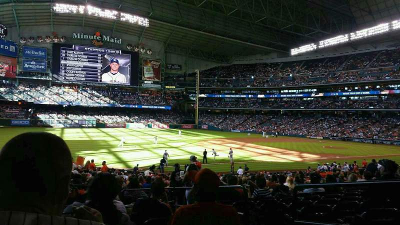 Seating view for Minute Maid Park Section 108 Row 32 Seat 7