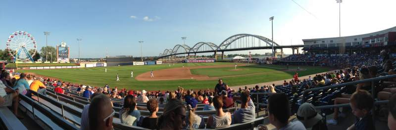 Seating view for Modern Woodmen Park Section Bleachers Row S Seat 3