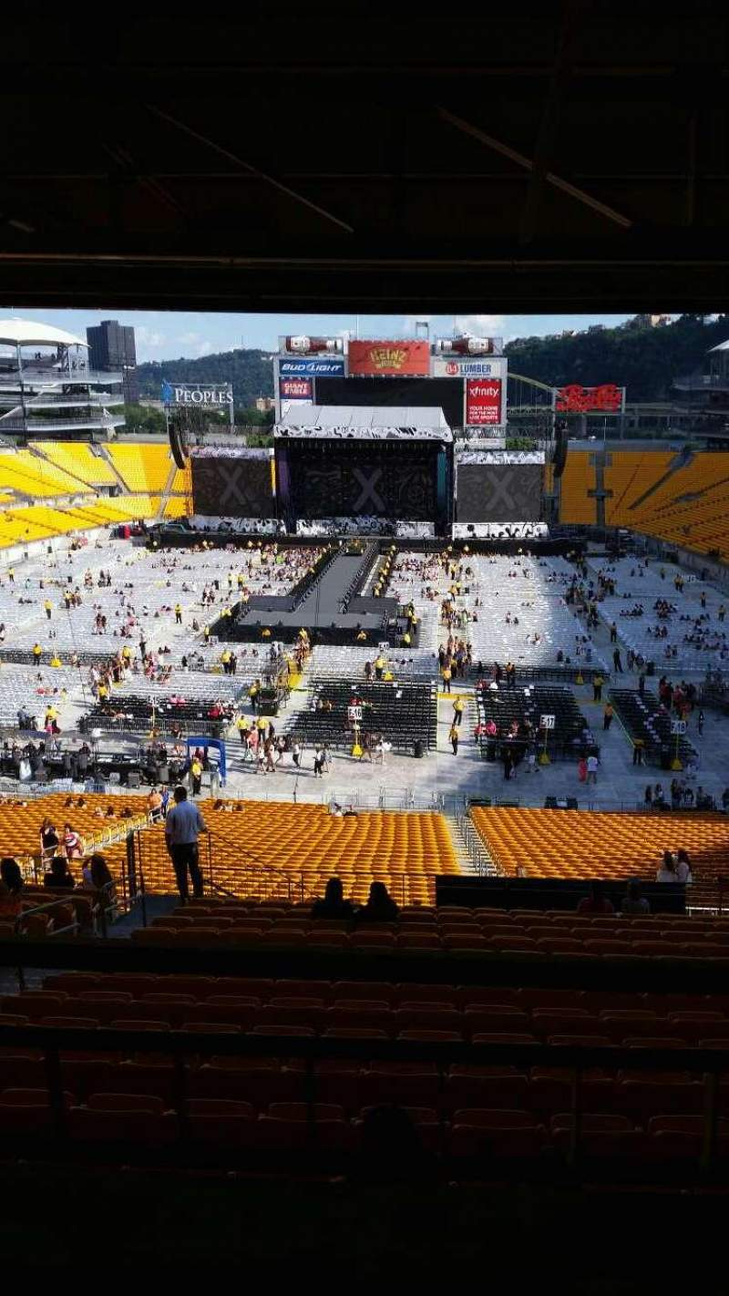 Seating view for Heinz Field Section NC-009  Row A Seat 13