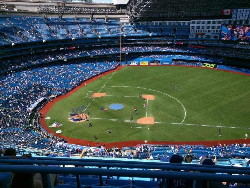 Seating view for Rogers Centre Section 518 Row 21 Seat 108