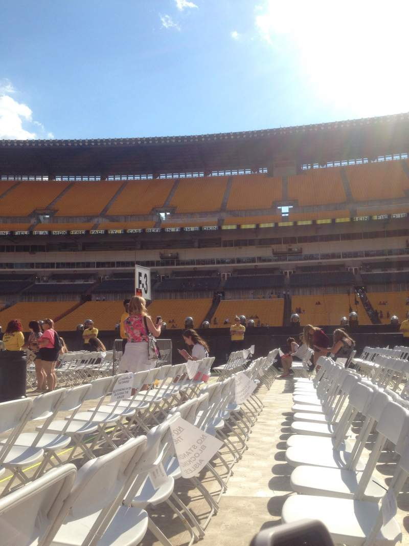 Seating view for Heinz field Section Field 8 Row 3 Seat 3