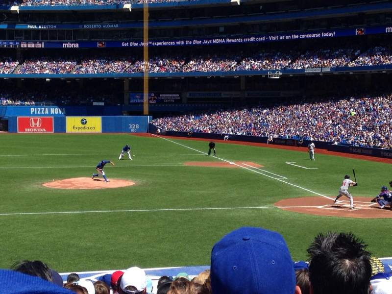 Seating view for Rogers Centre Section 126R Row 22 Seat 10