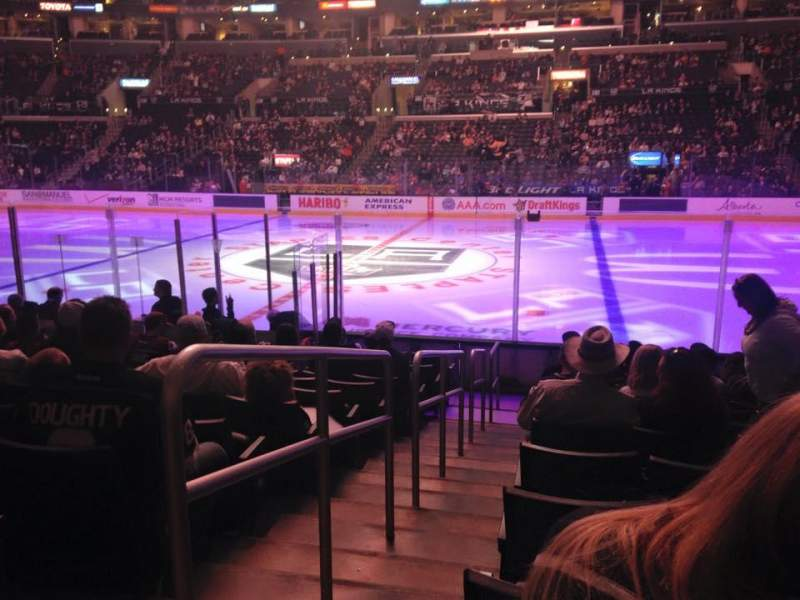 Seating view for Staples Center Section 110 Row 10 Seat 20