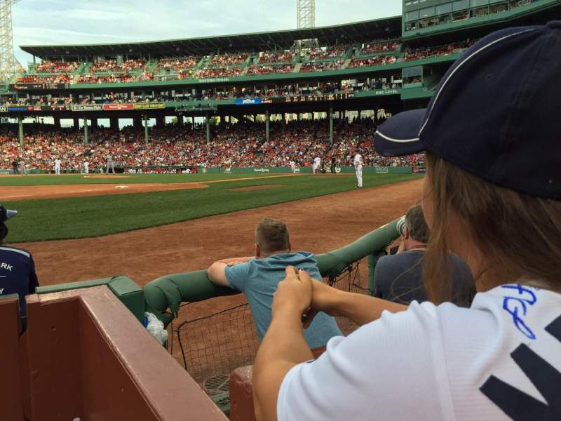 Seating view for Fenway Park Section Field Box 72 Row 1 Seat 4