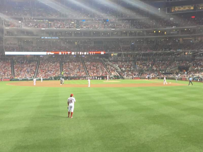 Seating view for Nationals Park Section 103 Row A Seat 3