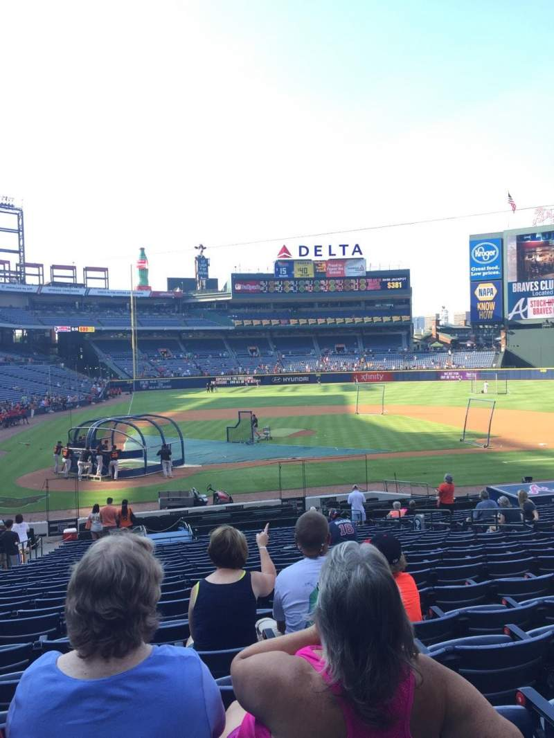 Seating view for Turner Field Section 105R Row 26 Seat 7