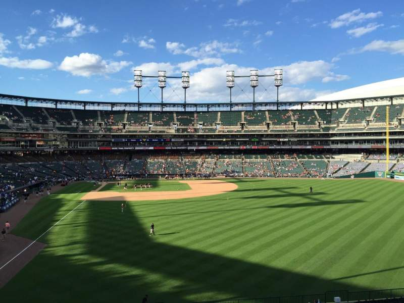 Seating view for Comerica Park Section Balcony Row Table Seat C2