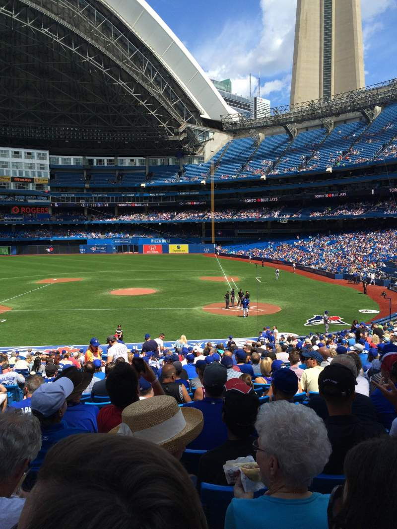 Seating view for Rogers Centre Section 125R Row 35 Seat 4