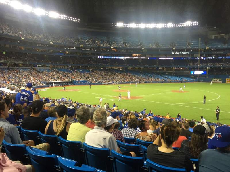 Seating view for Rogers Centre Section 114L Row 30 Seat 110