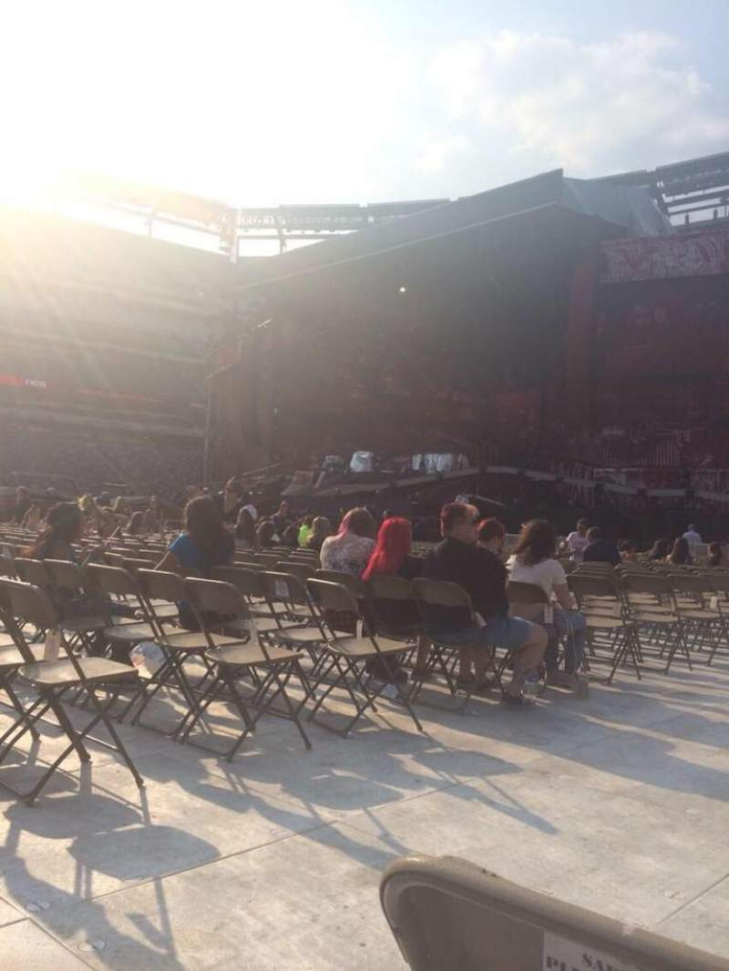 Seating view for Metlife Stadium Section Floor 1 Row 28 Seat 19