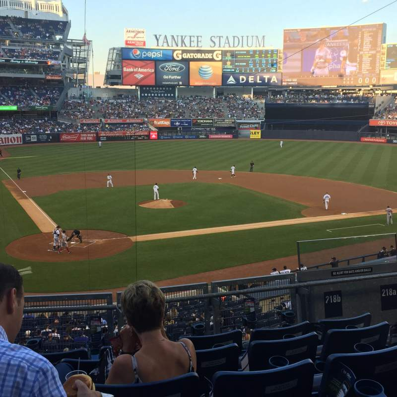 Seating view for Yankee Stadium Section 218B Row 6 Seat 5