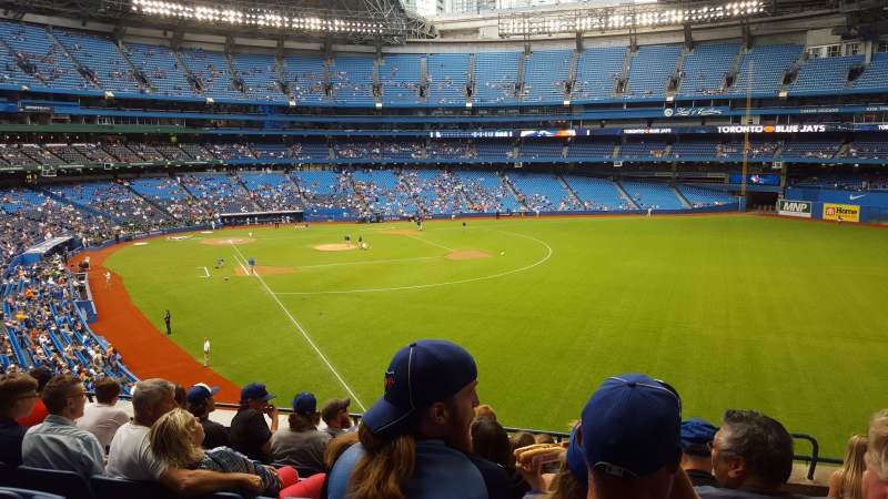 Seating view for Rogers Centre Section 210 L Row 8 Seat 102