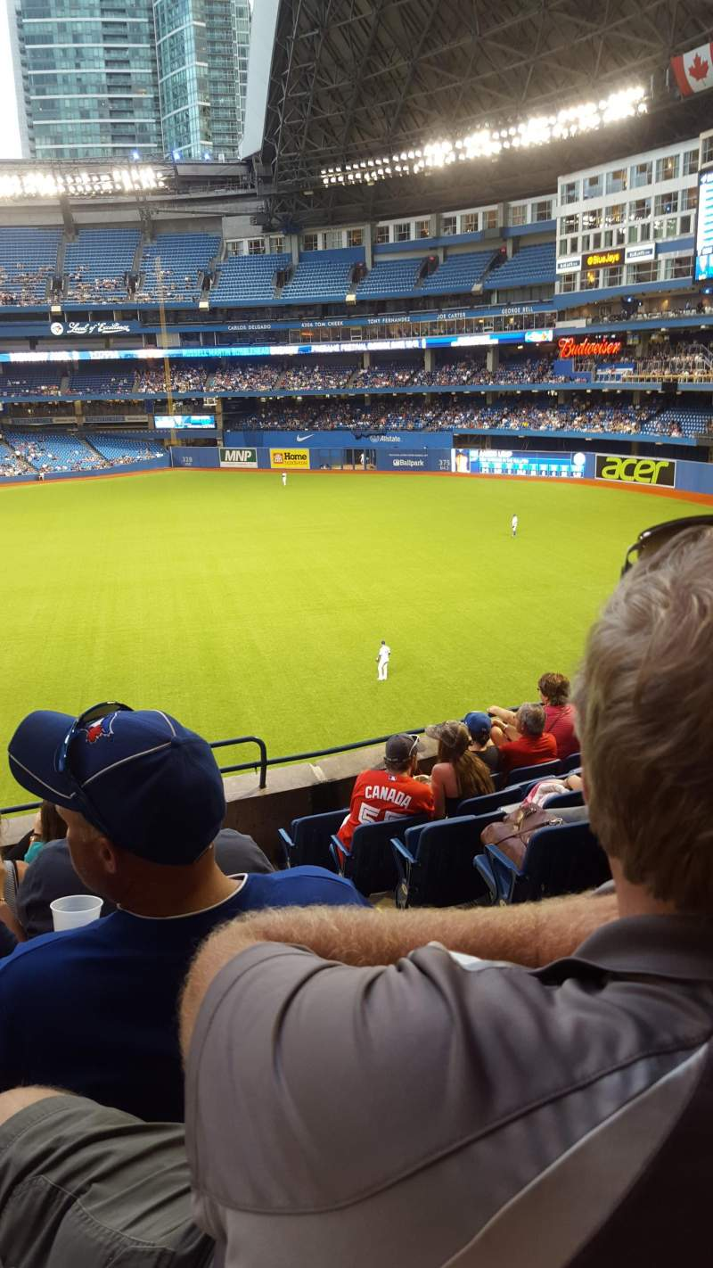 Seating view for Rogers Centre Section 210L Row 8 Seat 101