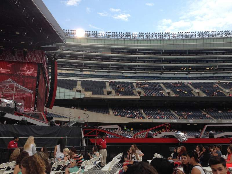 Seating view for Soldier Field Section A5 Row 6 Seat 14