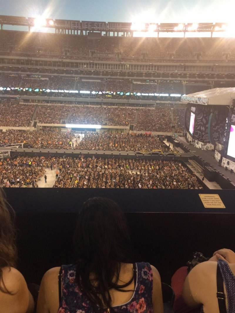 Seating view for MetLife Stadium Section 212 Row 2 Seat 16