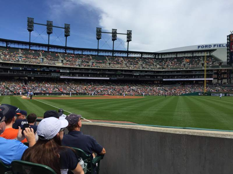 Seating view for Comerica Park Section 113 Row 9 Seat 7