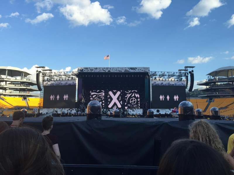 Seating view for Heinz Field Section F10 Row 30 Seat 5
